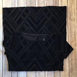 WHBM raised velvet sheath dress